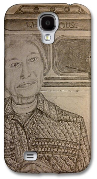 Barack Obama Drawings Galaxy S4 Cases - Rosa Parks Imagined Progress Galaxy S4 Case by Irving Starr