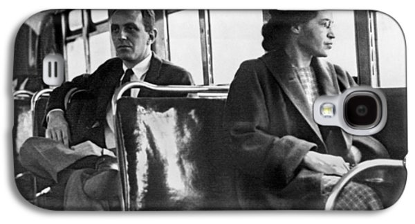 Rosa Parks On Bus Galaxy S4 Case by Underwood Archives