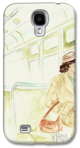 African-american Drawings Galaxy S4 Cases - Rosa Parks rides Galaxy S4 Case by P J Lewis