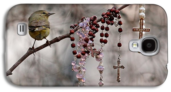 Greeting Cards For Cancer Galaxy S4 Cases - Rosary and Warbler Galaxy S4 Case by Luana K Perez