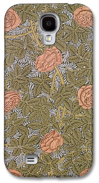Floral Tapestries - Textiles Galaxy S4 Cases - Rose 93 wallpaper design Galaxy S4 Case by William Morris