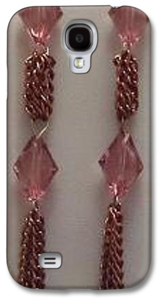 Floral Jewelry Galaxy S4 Cases - Rose Bead Chain Tassel Earrings Galaxy S4 Case by Kimberly Johnson