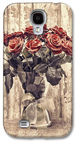 """indoor"" Still Life Photographs Galaxy S4 Cases - Bouquet Roses Galaxy S4 Case by Wim Lanclus"