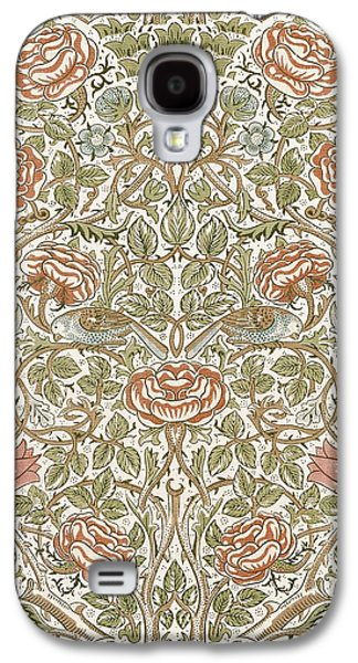 Food And Beverage Tapestries - Textiles Galaxy S4 Cases - Rose Design Galaxy S4 Case by William Morris