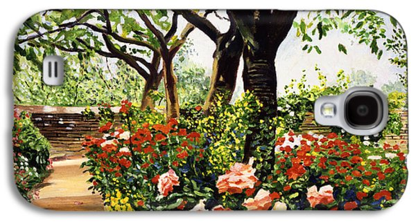 Pathway Paintings Galaxy S4 Cases - Rose Garden Impressions Galaxy S4 Case by David Lloyd Glover