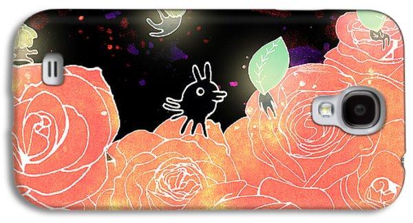 Fairies Mixed Media Galaxy S4 Cases - Rose Garden  Galaxy S4 Case by Yoyo Zhao