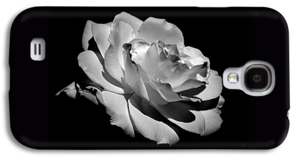 White Flowers Galaxy S4 Cases - Rose Galaxy S4 Case by Rona Black