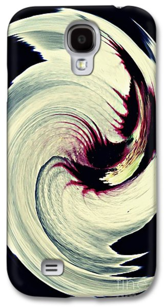 Abstract Digital Galaxy S4 Cases - Rosemallow Twist Galaxy S4 Case by Sarah Loft