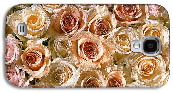 Abstract Digital Pyrography Galaxy S4 Cases - Roses 1 Galaxy S4 Case by Mauro Celotti