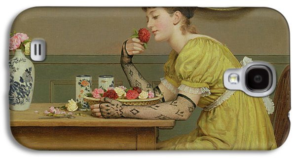 Pottery Paintings Galaxy S4 Cases - Roses Galaxy S4 Case by George Dunlop Leslie