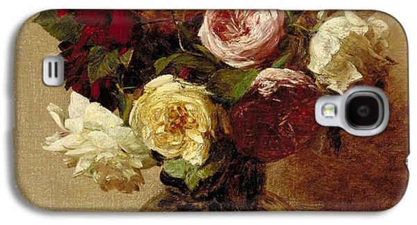 Roses Galaxy S4 Case by Ignace Henri Jean Fantin-Latour