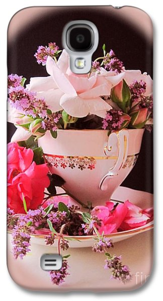 Roses In Thyme Teacup Vignette Galaxy S4 Case by Margaret Newcomb
