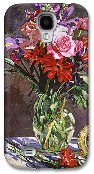 Roses Irises And Gerbras Galaxy S4 Case by David Lloyd Glover