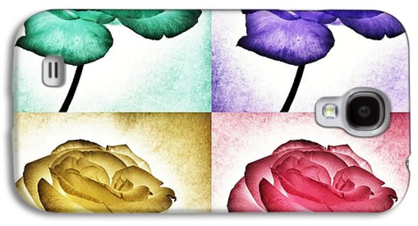 Surrealism Photographs Galaxy S4 Cases - Roses - Pop Art Galaxy S4 Case by Marianna Mills
