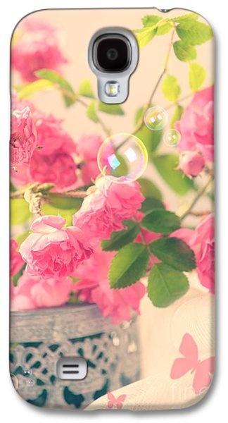 Water Filter Galaxy S4 Cases - Roses With Butterflies  Galaxy S4 Case by Amanda And Christopher Elwell