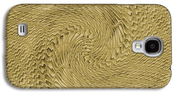 Abstract Digital Paintings Galaxy S4 Cases - Rosette Swirl Catus 1 no 2 H Galaxy S4 Case by Gert J Rheeders