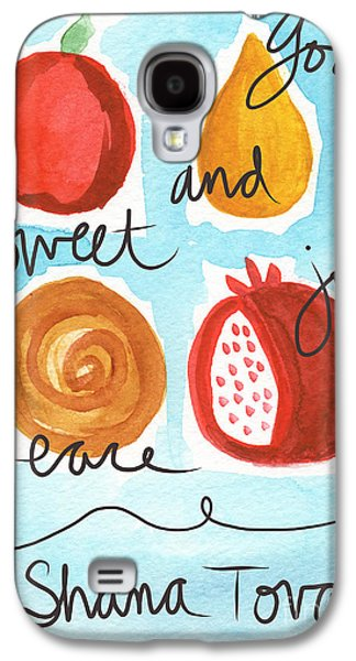 New Years Galaxy S4 Cases - Rosh Hashanah Blessings Galaxy S4 Case by Linda Woods