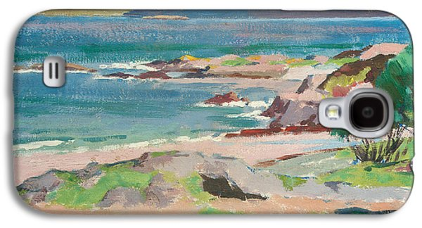Ross Paintings Galaxy S4 Cases - Ross of Mull from Traigh Mhor Galaxy S4 Case by Francis Campbell Boileau Cadell