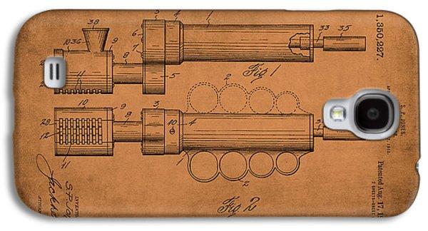 Rotary Razor 1920 Jones Antiqued Galaxy S4 Case by Lesa Fine