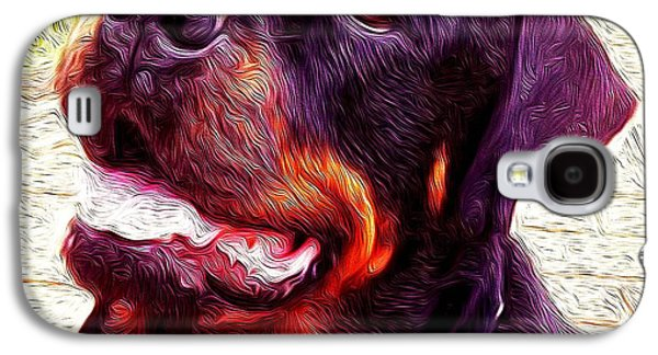Dogs Digital Galaxy S4 Cases - Rottie Galaxy S4 Case by Leitte Family