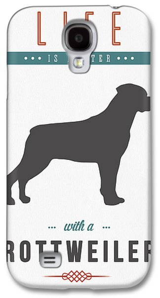 Puppies Mixed Media Galaxy S4 Cases - Rottweiler 01 Galaxy S4 Case by Aged Pixel