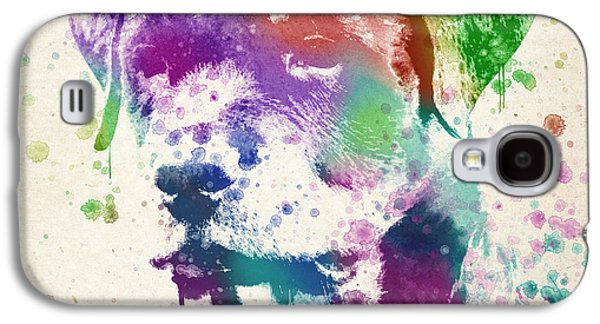 Puppy Digital Art Galaxy S4 Cases - Rottweiler Splash Galaxy S4 Case by Aged Pixel