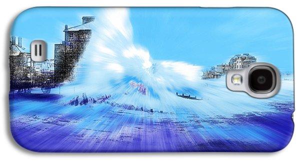 Storm Prints Mixed Media Galaxy S4 Cases - Rough sea Bognor England Galaxy S4 Case by Tony Rubino