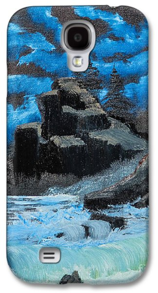 Bob Ross Paintings Galaxy S4 Cases - Rough Seas Galaxy S4 Case by Dave Atkins