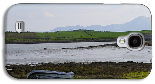 Rowboat Digital Art Galaxy S4 Cases - Row Boat at Low Tide - County Mayo Ireland Galaxy S4 Case by Bill Cannon