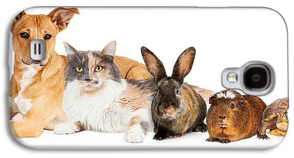 Studio Photographs Galaxy S4 Cases - Row of Domestic Pets Galaxy S4 Case by Susan  Schmitz