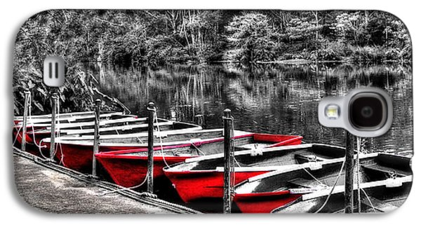 Row Of Red Rowing Boats Galaxy S4 Case by Kaye Menner
