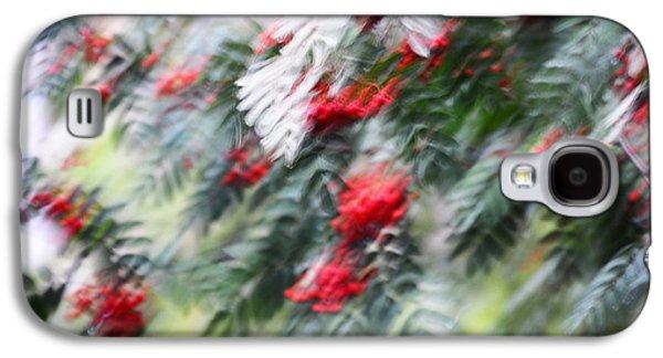 Abstract Movement Galaxy S4 Cases - Rowan Tree under the Silver Rain. Impressionism Galaxy S4 Case by Jenny Rainbow