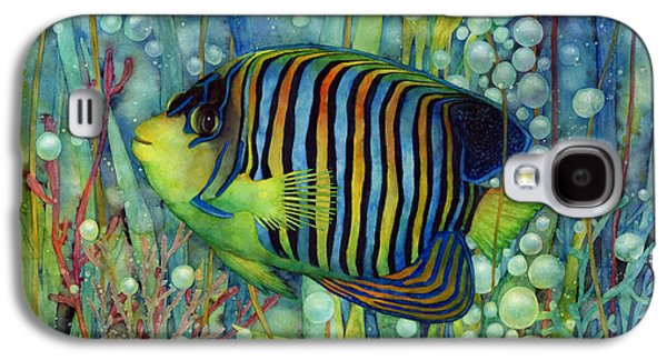 Stripes Paintings Galaxy S4 Cases - Royal Angelfish Galaxy S4 Case by Hailey E Herrera