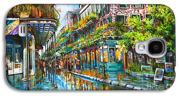 Town Paintings Galaxy S4 Cases - Royal at Pere Antoine Alley Galaxy S4 Case by Dianne Parks