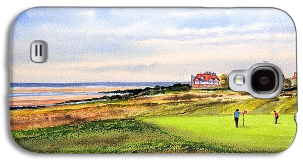 The Tiger Paintings Galaxy S4 Cases - Royal Liverpool Golf Course Hoylake Galaxy S4 Case by Bill Holkham
