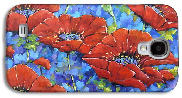 Canadiens Paintings Galaxy S4 Cases - Royal Poppies by Prankearts Galaxy S4 Case by Richard T Pranke