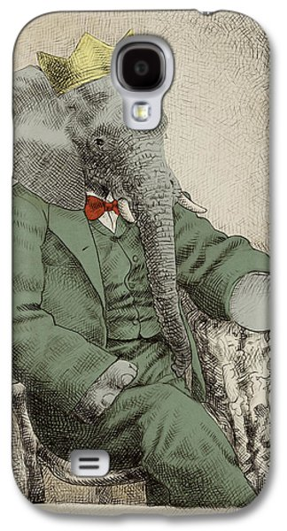 Green Drawings Galaxy S4 Cases - Royal Portrait Galaxy S4 Case by Eric Fan