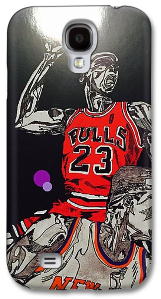 Patrick Ewing Galaxy S4 Cases - Royal Skies Flyer Galaxy S4 Case by Nelson Vargas