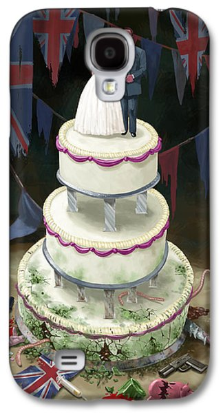 Kate Middleton Galaxy S4 Cases - Royal Wedding 2011 cake Galaxy S4 Case by Martin Davey