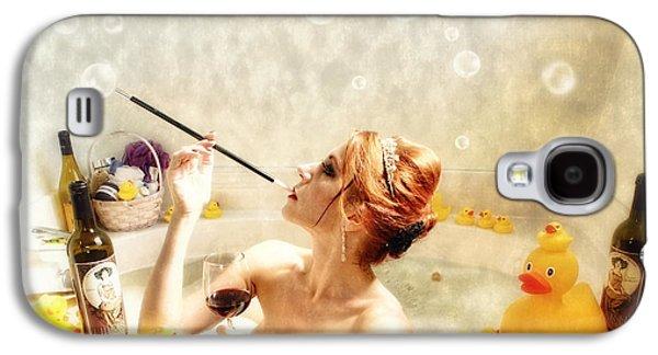 Wine Holder Galaxy S4 Cases - RubaDubDub Galaxy S4 Case by Spokenin RED