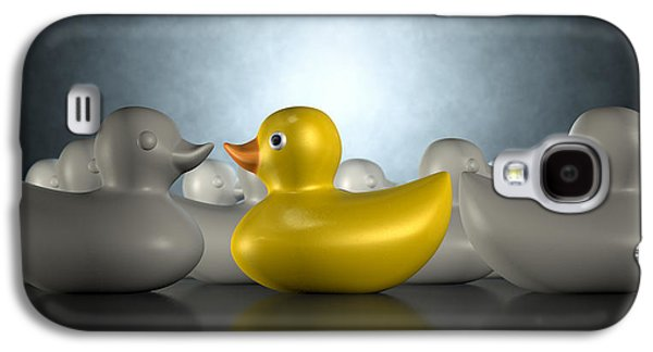 Protesters Galaxy S4 Cases - Rubber Duck Against The Flow Galaxy S4 Case by Allan Swart