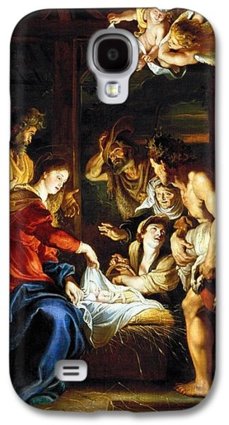 Holy Galaxy S4 Cases - Rubens Adoration Galaxy S4 Case by Granger