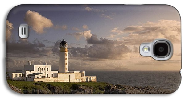 Highlands Digital Art Galaxy S4 Cases - Rubha Reidh - lighthouse Galaxy S4 Case by Pat Speirs