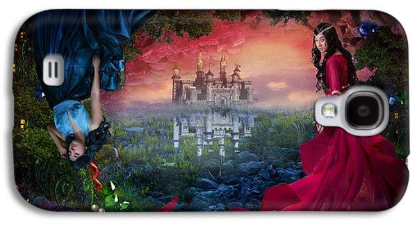 Phantasie Galaxy S4 Cases - Ruby Galaxy S4 Case by Cassiopeia Art