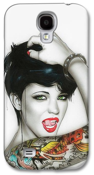 Tattoo Galaxy S4 Cases - Ruby Galaxy S4 Case by Christian Chapman Art