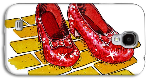Kid Galaxy S4 Cases - Ruby Slippers The Wizard Of Oz  Galaxy S4 Case by Irina Sztukowski