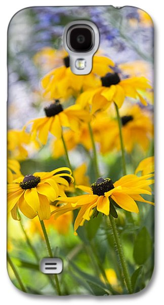 Abstracted Coneflowers Galaxy S4 Cases - Rudbeckia Fulgida Goldsturm Galaxy S4 Case by Tim Gainey