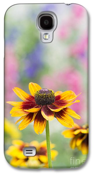 Abstracted Coneflowers Galaxy S4 Cases - Rudbeckia Hirta Galaxy S4 Case by Tim Gainey