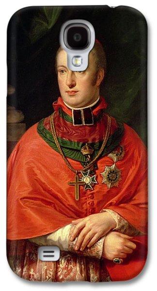 Rudolph Galaxy S4 Cases - Rudolf Of Habsburg, Archduke Of Austria 1788-1831, Youngest Son Of Leopold Ii 1747-93, In Cardinals Galaxy S4 Case by Johann Baptist Edler von Lampi