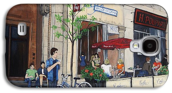 Montreal Paintings Galaxy S4 Cases - Rue Peel Galaxy S4 Case by Reb Frost